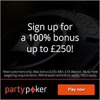 partypoker £250 bonus