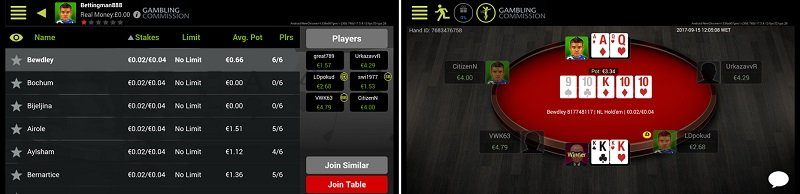 Playing on the Ladbrokes poker app