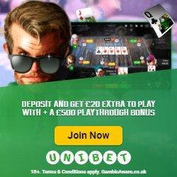 £20 free from Unibet poker
