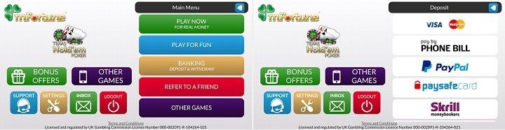 Latest mFortune poker app review