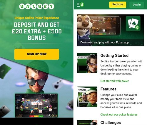 Free poker Unibet app