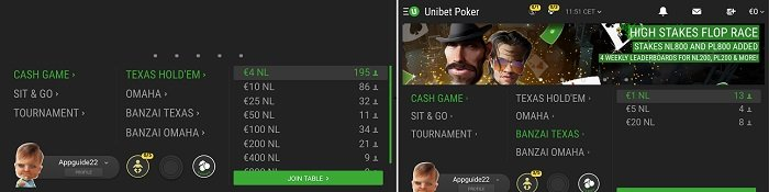 Unibet mobile poker