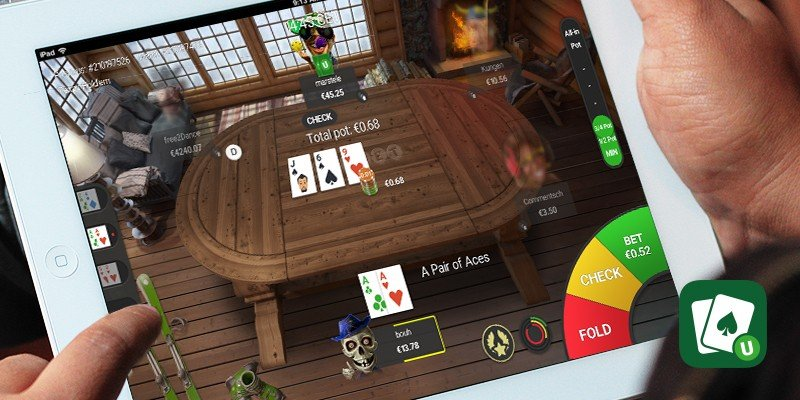 Texas Holdem on a tablet