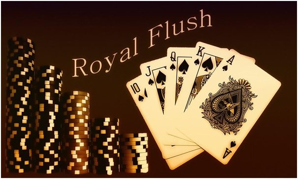 Royal flush hand