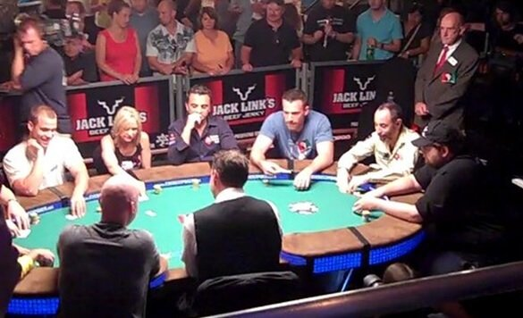 Ben Affleck playing poker